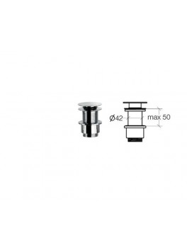 Klik-ventil til vaske uden overløb fra Cassøe 50 mm-20