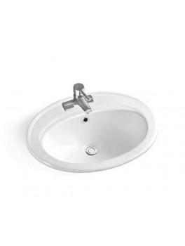 Drop nedfældningsvask i hvid fra Cassøe-20