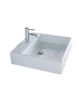 Disegno Box 50 Firkantet porcelænsvask med hanehul fra Cassøe-20