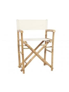 Instruktørstol i bambus og hvid canvas fra Ib Laursen-20