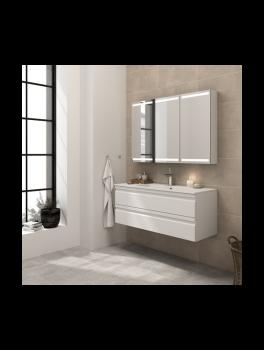 Underskab 80x48cm, inklusiv kantate vask, 3 varianter: Hvid/Sort/Ceder Grey, fra Dansani-20