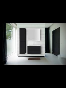 Underskab 100x48cm, inklusiv kantate vask, 3 varianter: Hvid/Sort/Ceder Grey, fra Dansani-20