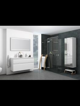 Underskab 100x64cm, inklusiv kantate vask, 3 varianter Hvid/Sort/Ceder Grey, fra Dansani-20
