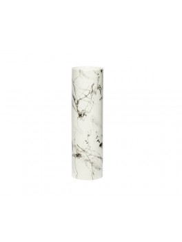 Vase i porcelæn med sort og hvidt marmor-mønster fra Hübsch-20