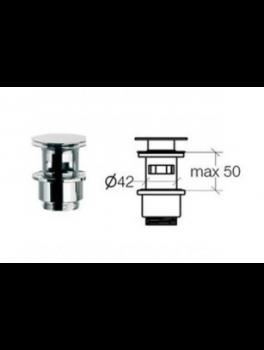 Klik-ventil med overløb Krom 50 80 mm-20
