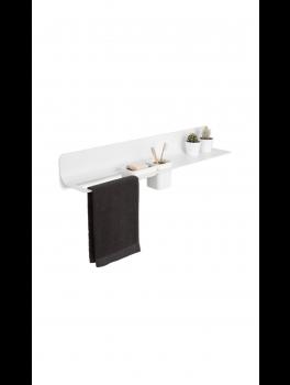 Håndklæde / tilbehørsholder Hvid Sort-20