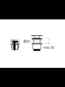 Klik-ventil uden overløb krom 30 50 80 mm-20