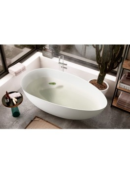 Fritstående badekar Nørrestrand Mat 170 cm-20