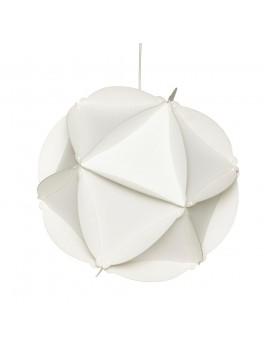 Rund papirlampe i hvid fra Hübsch-20
