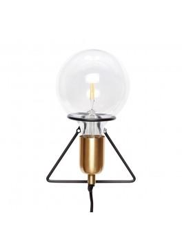 Væglampe med pære i messing/sort fra Hübsch-20