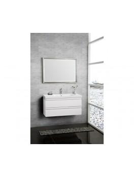 Underskab 100x64cm, inklusiv menuet vask, 3 varianter Hvid/Sort/Ceder Grey, fra Dansani-20