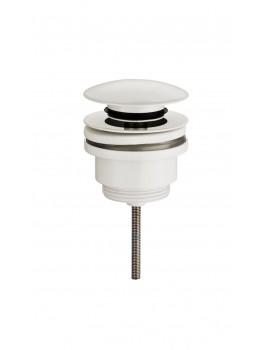 Universal klik-ventil i mat hvid både med og uden overløb-20