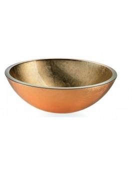 Lineabeta glasbowle i guld fra Cassøe Ø : 42.5 cm-20