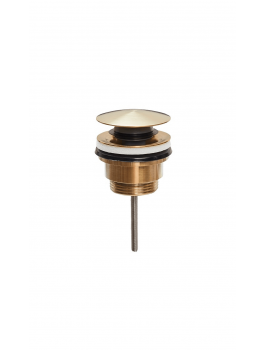 Universal klik-ventil både med og uden overløb Børstet messing-20