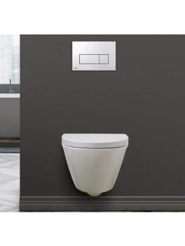 SPRING RIMLESS væghængt toilet Hvid Sort (sæde og skål sælges separat)-20