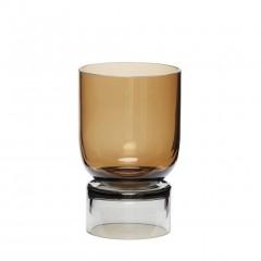 Vase i håndlavet ravgul/grå glas fra Hübsch