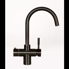 Taurus 5-1 med kogende vand, kølet vand og danskvand inkl. kalkfilter i sort med rund tud fra AKVATUR