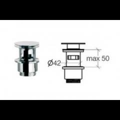 Klik-ventil med overløb - Krom - 50 - 80 mm