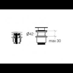 Klik-ventil uden overløb - krom - 30 - 50 - 80 mm