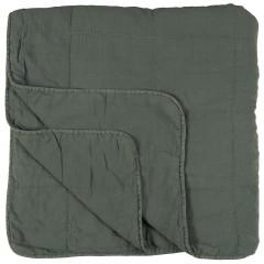Vintage quilt sengetæppe dobbelt dusty petrol fra Ib Laursen