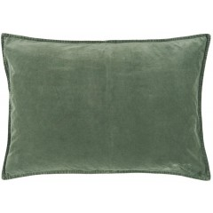 Velour pudetræk i dusty chalk green fra Ib Laursen