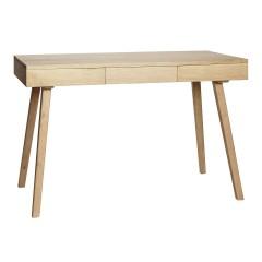 Skrivebord med 3 skuffer i egetræ, FSC, natur fra Hübsch