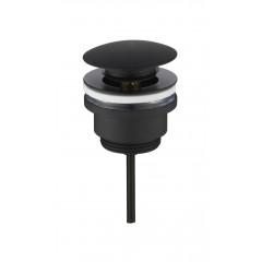 Universal klik-ventil - Mat sort