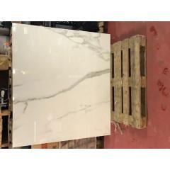Calcatta White Glossy / 140 x 160 cm