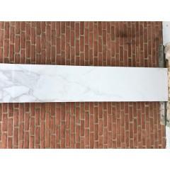 Calcatta White Glossy / 30 x 120 cm