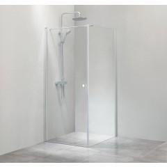 Cassøe SLIM - Hjørneløsning med fast væg - Klar - Isglas - 90 cm