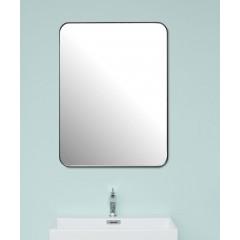 Spejl med afrundede kanter og sort metalramme fra Cassøe - 60x80cm & 120x80cm