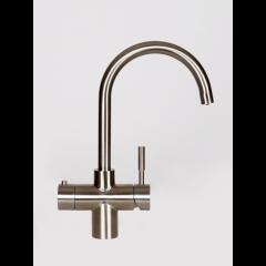 Taurus 5-1 med kogende vand, kølet vand og danskvand inkl. kalkfilter i børstet stål med rund tud fra AKVATUR