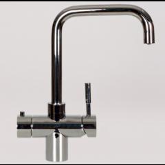 Taurus 5-1 med kogende vand, kølet vand og danskvand inkl. kalkfilter i krom med firkantet tud fra AKVATUR