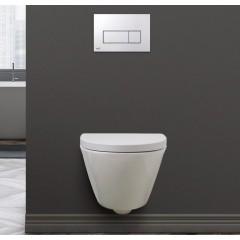 SPRING RIMLESS væghængt toilet - Hvid - Sort - (sæde og skål sælges separat)
